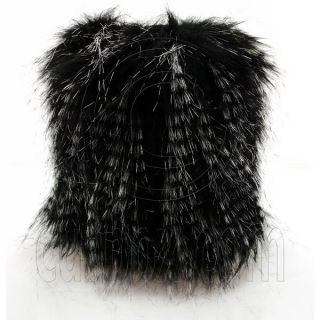 Pair Lady Elastic Faux Fur Fluffy Boots Covers Leg Foot Warmers Sleeves 20cm 8""