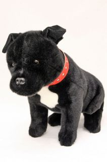 STAFFY Staffordshire Bull Terrier Dog Soft Plush Toy Stuffed Animal DJ