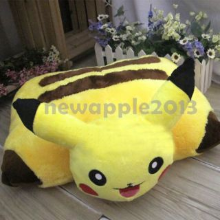 New Yellow Pokemon Pikachu Pet Pillow Transforming Cushion Soft Plush Xmas Gift