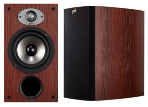 New Polk Audio TSX 220B Home Theater Bookshelf Speakers TSX220B Pair Cherry New