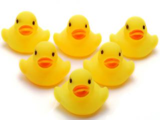60pc Wholesale Bulk Lots Cute Rubber Ducks Baby Kids Children Bath Toy 4x4x4 5cm