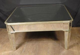 Italian Art Deco Mirrored Coffee Table Tables