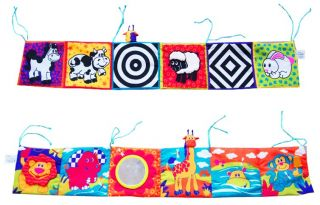 1×BABY Kids Lamaze High Contrast Activity Puzzle Zoo Cloth Book Crib Gallery Toy