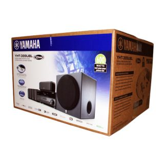 New Yamaha YHT 399U 5 1 Channel Home Theater System YHT 399UBL Speakers Receiver