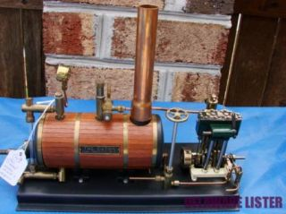 Maxwell Hemmens Miniature Live Twin Steam Engine Plant Boiler Tank Orig Box