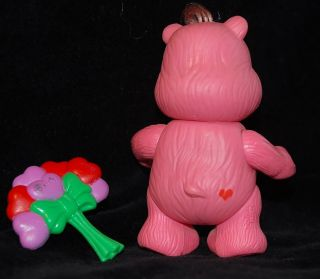 "Love A Lot Poseable Figure Vintage Kenner 1983 Care Bear 3"" Complete w Accessory"