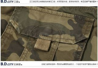 Men's Fashion Casual Army Cargo Combat Camo Overall Long Sport Pants Trousers