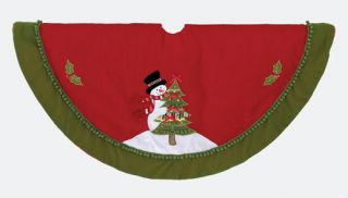 Kurt Adler Christmas Tree Skirt with Its Beautiful Bright Colors Red and Green