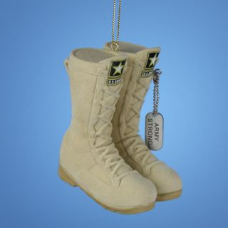 Kurt Adler Christmas Ornament United States Army Combat Boots Uniform Battle