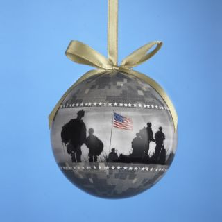 Kurt s Adler United States Army Camouflage Decoup Ball Christmas Ornament