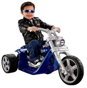 Fisher Price Power Wheels Harley Davidson Rocker 3 Wheeler Ride on Bike P5065