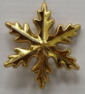 New Kurt Adler Antiqued Gold Pierced Snowflake Set of 3 Ornaments H9057
