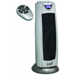 Comfort Zoneâ® Digital Ceramic Oscillating Electric Tower Heater Fan with Remote