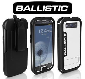Ballistic EVERY1 Kickstand Case Holster Clip Samsung Galaxy S3 III Black White