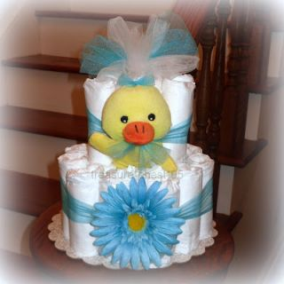 Daisy Duck Diaper Cake Baby Shower Centerpiece Decorations Rubber Ducky Bubble