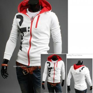 New Mens Printed Slim Fit Sexy Top Designed Hoodies Blazer Jackets Coats 2color