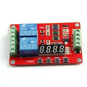 New 2 Channels Relay Self Lock Cycle Timer Module PLC Home Automation Delay 12V