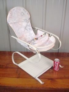 Shabby Chic Vintage Baby Bouncy Jumper Seat Doll Chair Very Neat Nice