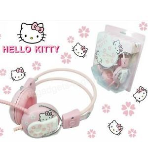 Brand New Popular Cute Hello Kitty Headsets Earphone Pink So Sweet