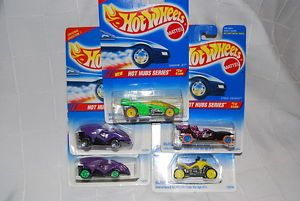RARE Hot Wheels Hot Hubs Series Complete Set with Variation