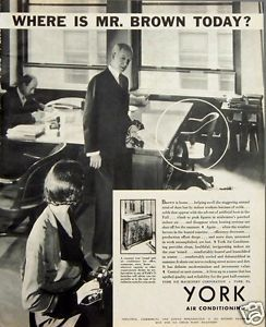 1933 York Air Conditioning Heating Cooling Work Lost Employee Illness Print Ad