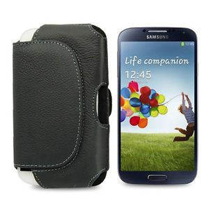 Deluxe Black Leather Belt Clip Holster Case Cover Fr Samsung Galaxy S3 III I9300