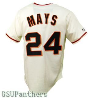 Willie Mays San Francisco Giants Cream Home Jersey Men's Sz M 2XL