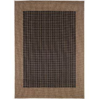 Couristan Recife Checkered Field Black Cocoa Rug