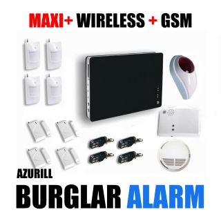 Large Wireless Security GSM Home House Burglar Intruder Alarm Azurill System
