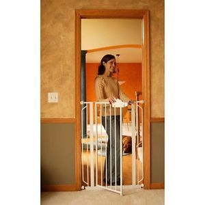 Extra Tall Metal Walk thru Gate Baby Gate Safety Child Dog Pet Crib Stairs Home