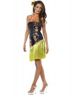 Mens Womens Girls Hawaiian Hula Luau Party Smiffys Fancy Dress Costumes Shirts