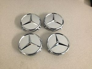 New Mercedes Benz Set of 4 Star Center Wheel Rim Hub Cap 75mm Hubs Caps