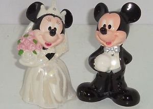 Disney Mickey Minnie Mouse Wedding Salt Pepper Shakers Cake Topper Theme Parks