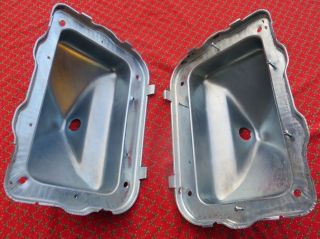 Stripped Plated Ford Mustang 1970 Tail Light Bucket Housings Pair Nice
