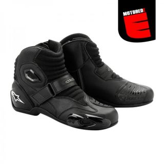 2012 Alpinestars s MX 1 Street Riding Race Boots Black Size Euro 40 US 6 5