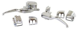 Chrome Hand Controls Chrome Switch Housings for Harley Touring Models 1996 07