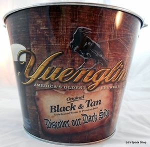 Yuengling Beer Black and Tan Beer Ice Bucket Party Bar Drink Holder Tailgate