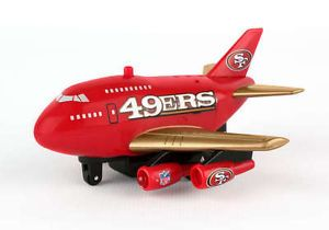 Lighted LED Jet Sound 2 Speed NFL San Francisco 49ers Team Airplane Mint