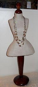 Vintage Large Mini Mannequin Bust Dress Form Counter Display Jewelry Necklace