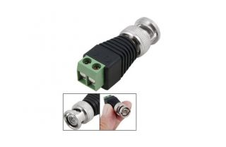 10pairs CAT5 to BNC Coaxial Video Balun Male Female DC Power Connectors