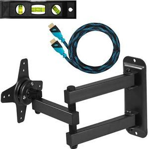 TV Monitor Wall Mount for LED LCD 15 17 19 20 21 22 23 24 inch Flat Panel Screen