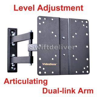 "Full Motion Tilt Swivel LCD LED TV Monitor Wall Mount 22 23 24 26 27 32"" 37"" MBC"