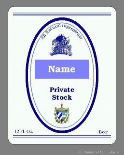 'Private Stock' Custom Beer Labels