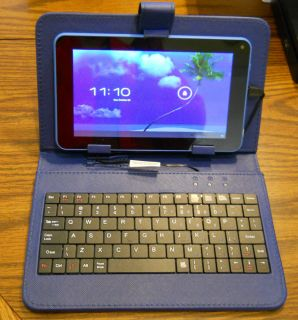 "Proscan PLT7045K 7"" Internet Tablet Bundle Blue WiFi 4GB 4 1 Android Jelly Bean"