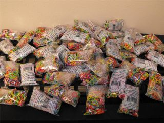 600 Pack Rainbow Loom Refill Rubber Bands C Clips All Colors Available
