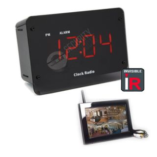 Alarm Clock Radio Digital Wireless Hidden Spy Camera w LCD IR Night Vision
