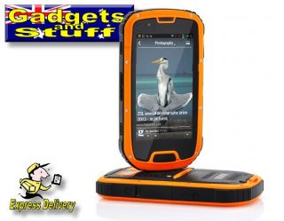 "Rugged Quad Core Android 4 2 Phone 4 3"" Gorilla Glass Screen IP67 Waterproof"