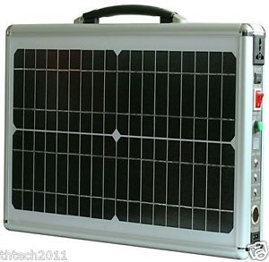 Portable 48AH Solar Power Generator Battery Charger for Tablet Laptop Cell Phone
