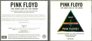 Pink Floyd Selections from Live at Wembley Promo CD Why