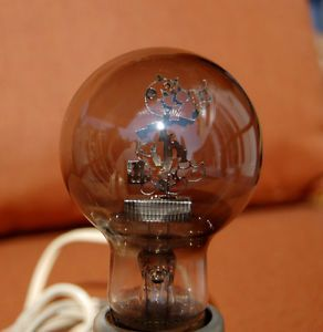 RARE Reddy Kilowatt Advertising Light Bulb w Holder
